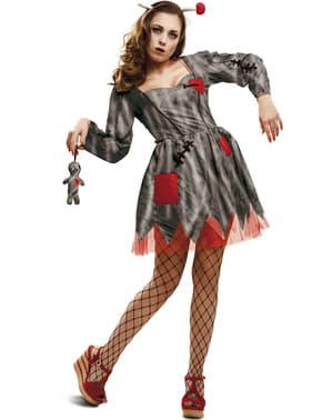 Costume da bambola voodoo vendicativa per donna