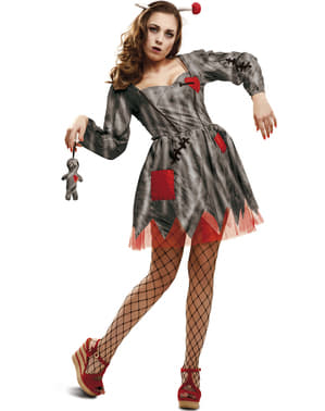Rachsüchtige Voodoo Puppe Kostüm für Damen