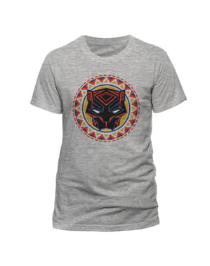חולצת טריקו לוגו פנתר שחור אפור