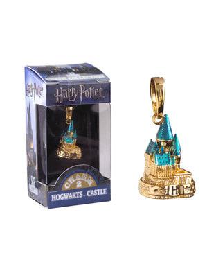 Pendente Castelo de Hogwarts dourado Harry Potter