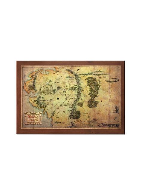 Carte Terre du Milieu Le Seigneur des Anneaux