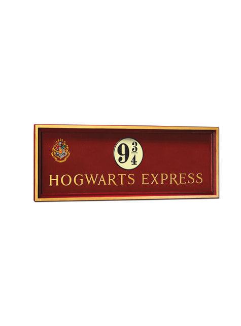Placa de Andén 9 3/4 Hogwarts Express Harry Potter