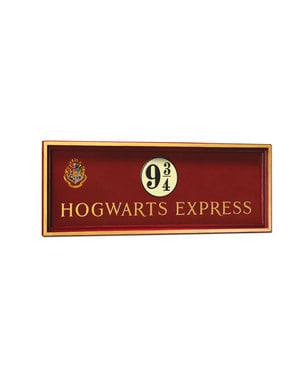 Plaque Quai  9 3/4 Poudlard Express Harry Potter