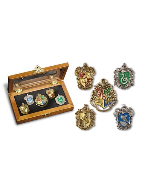 Caja de pins de las Casas de Hogwarts Harry Potter