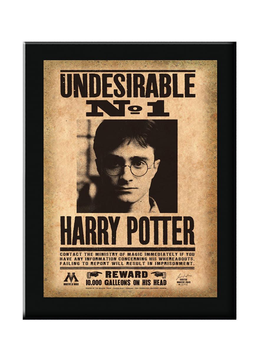 Undesirable Number 1 Harry Potter framed poster for true ...