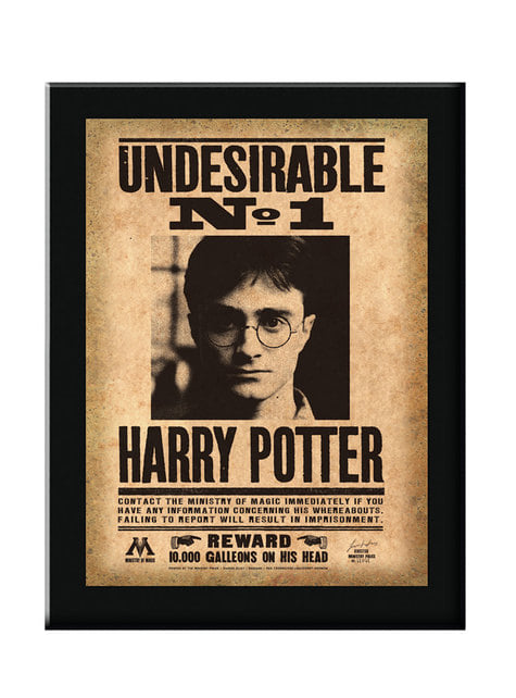 Cartel enmarcado Indeseable N°1 Harry Potter