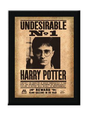 Cartaz emoldurado Indesejável N°1 Harry Potter
