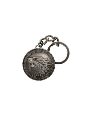 Game of Thrones House Stark emblem keychain