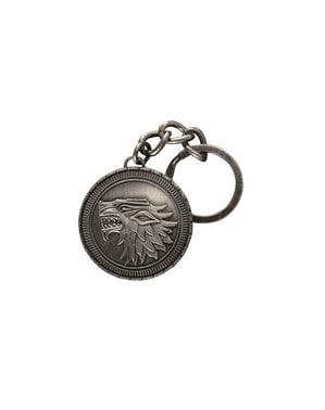 Game of Thrones House Stark emblem keychain
