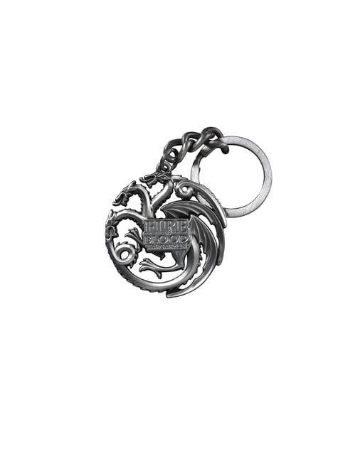 Llavero de Dragones emblema Targaryen Juego de Tronos