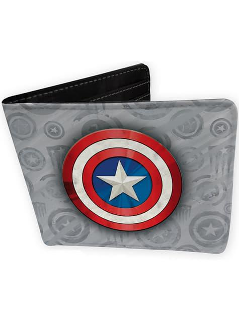Cartera de Capitán América gris
