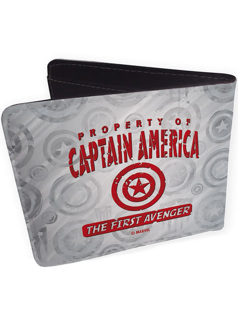 Portefeuille Captain America gris