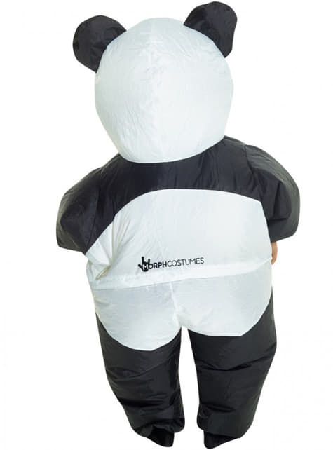 Aufblasbares Kostüm Pandabär für Kinder