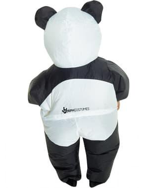 Fato de urso panda insuflável infantil