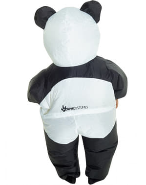Oppusteligt panda kostume til børn