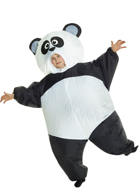 Oppblåsbart Panda Kostyme for Barn