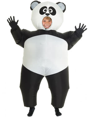 Panda надуваем костюм за деца