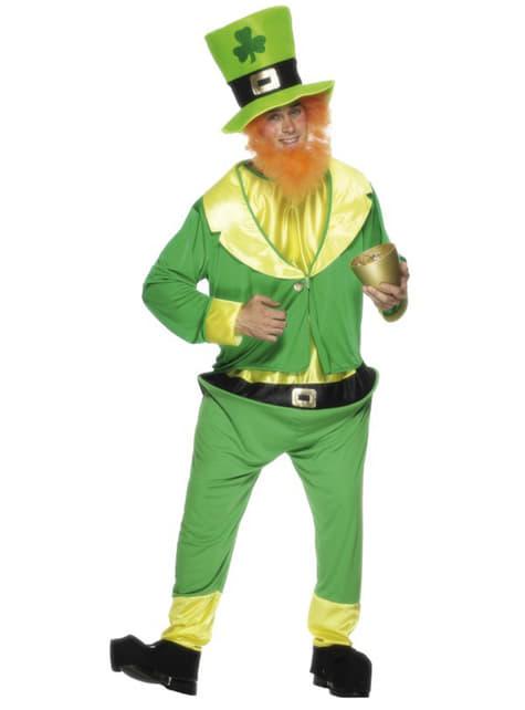 Leprechaun Grön Maskeraddräkt