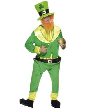 Grønn Leprechaun Kostyme Voksen