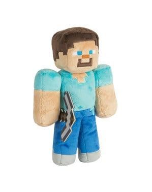 Peluche médio de Minecraft Steve 30 cm