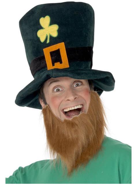 Chapéu de Leprechaun com barba