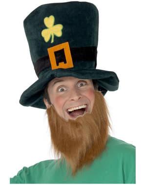Leprechaun Hatt med Skjegg