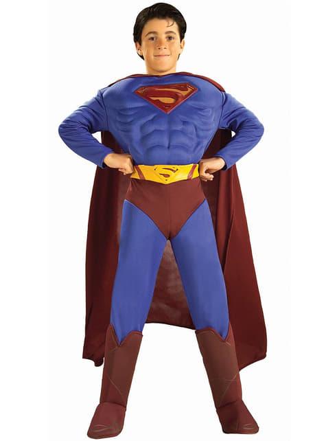 Kostium Superman Powrót umięśniony dla chłopca