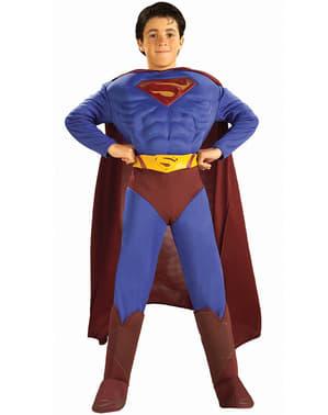 Fato de Superman returns musculoso para menino