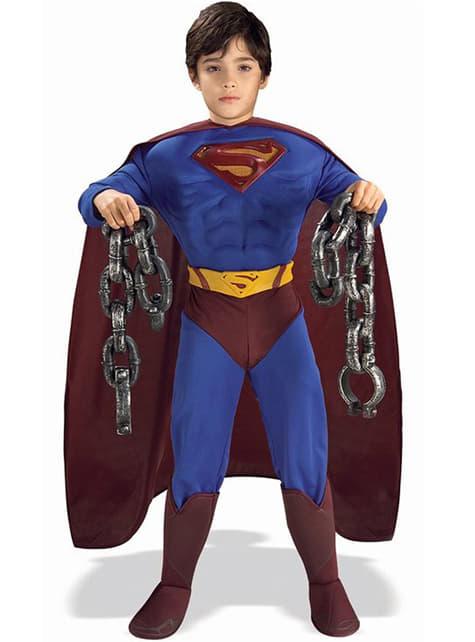 Gespierd Superman Returns kostuum voor jongens