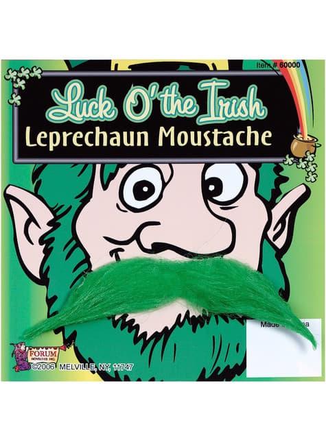 Grønn Leprechaun-Mustasje