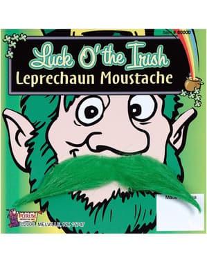Grön mustasch Leprechaun
