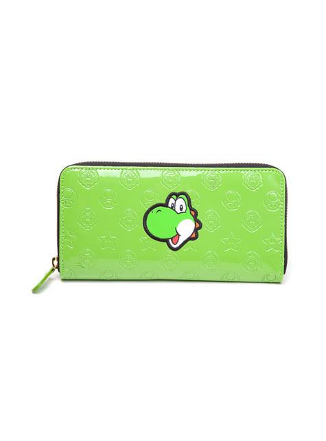 Monedero de Yoshi verde para mujer
