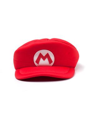 Rød Mario Bros caps for voksne