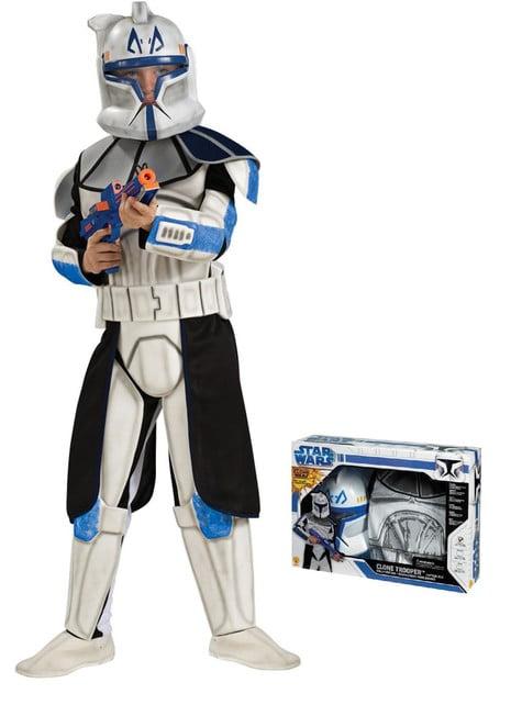Fato de Clone Trooper Rex deluxe para menino em caixa