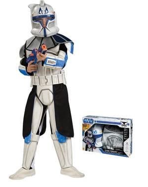 Maskeraddräkt Clone Trooper Rex deluxe för barn i kartong