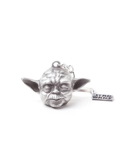 3D klíčenka Yoda kovová