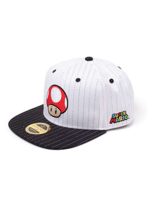 Gorra de champiñon Super Mario blanca