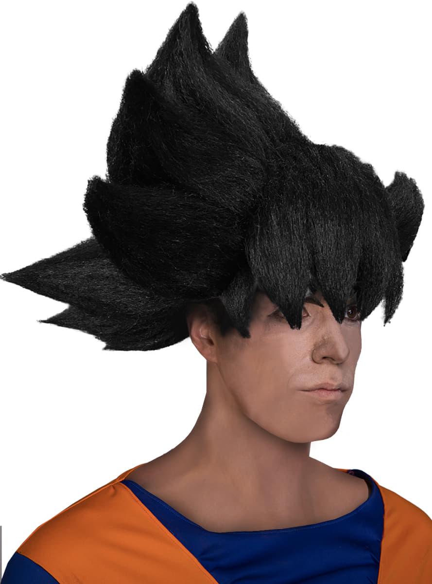 Perruque Sangoku Dragon Ball adulte. Les