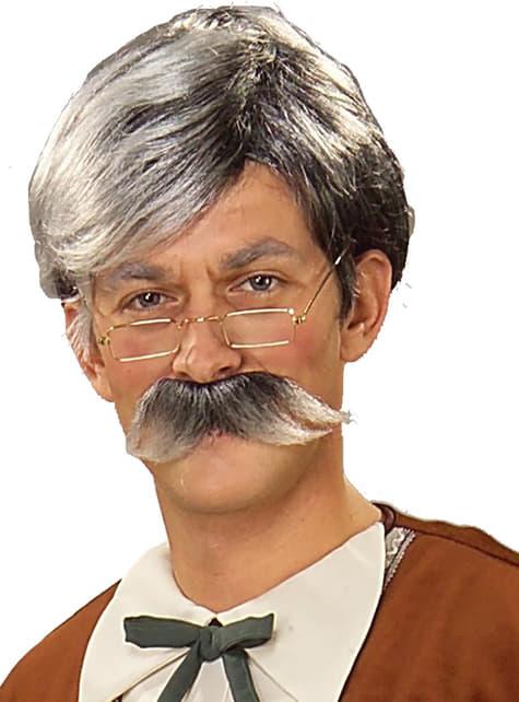 Zestaw peruka i wąsy Geppeto