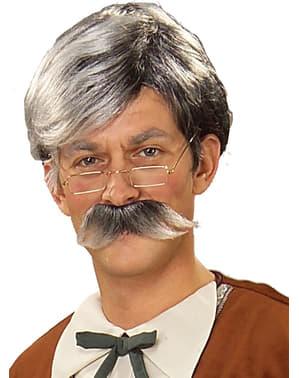 Kit parrucca e baffi Geppetto