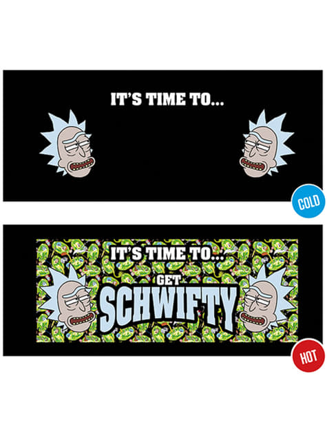 Taza de Rick y Morty Get Schwifty cambia color - oficial