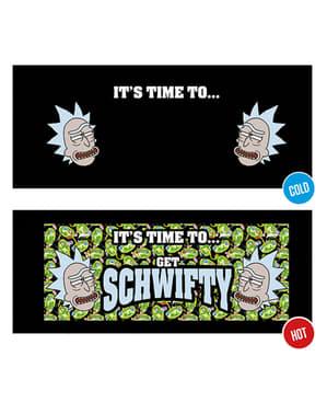 Hrnček Rick a Morty Get Schwifty meniaca sa farba