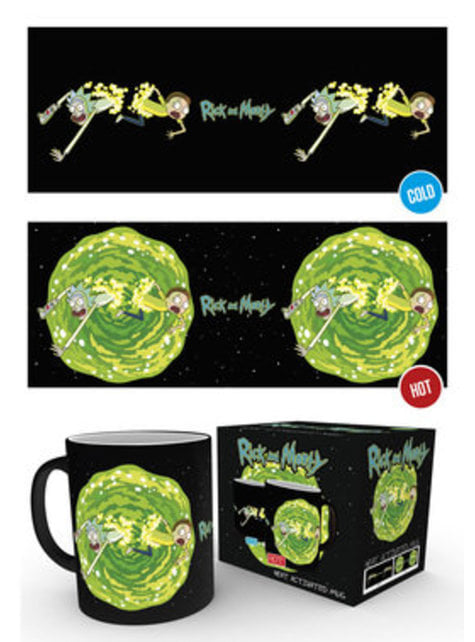 Taza de Rick y Morty Portal cambia color - oficial