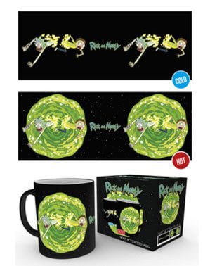 Caneca de Rick and Morty Portal muda de cor