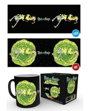 Mugg Rick and Morty Portal ändrar färg