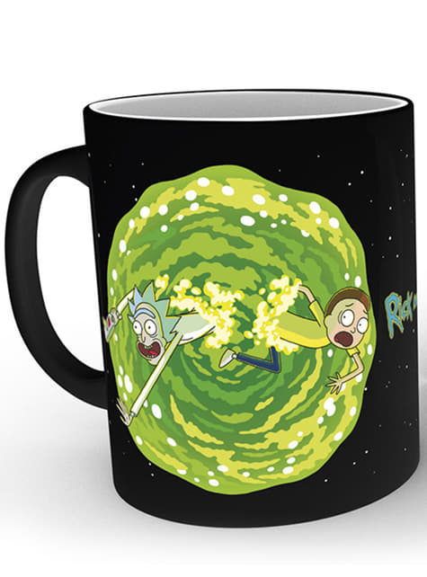 Caneca de Rick and Morty Portal muda de cor