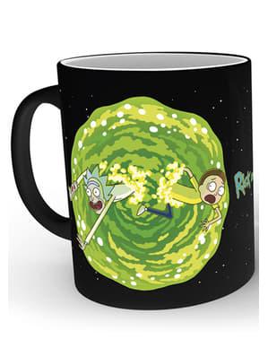Hrnček Rick a Morty Portal meniaca sa farba