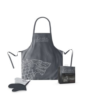 House Stark Game of Thrones apron and oven gloves set