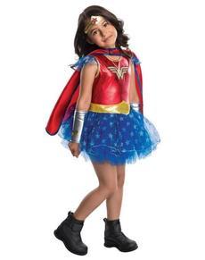 Disfraz de Wonder Woman con tutú para niña