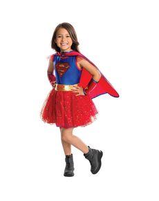 Disfraz de Supergirl con tutú para niña